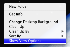 View or Configure Desktop Options on Mac OS X