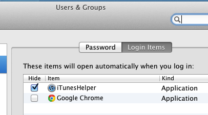 Configure Login Items on Mac OS X