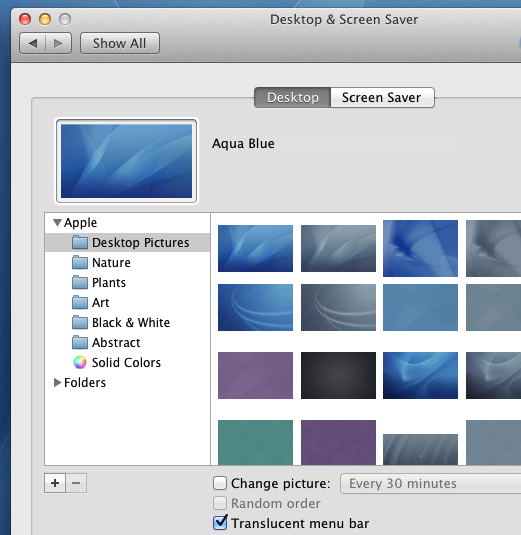 View / Configure Desktop Background of Mac OS X