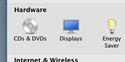System Preferences of Mac OS X to View / Configure Displays