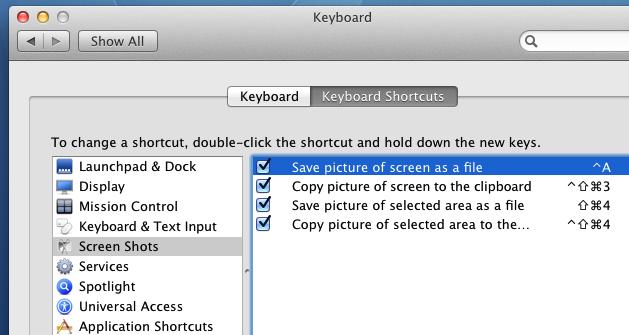 Configure or View Mac OS X Keyboard Shortcuts