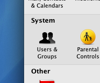 Mac Users & Groups in System Preferences