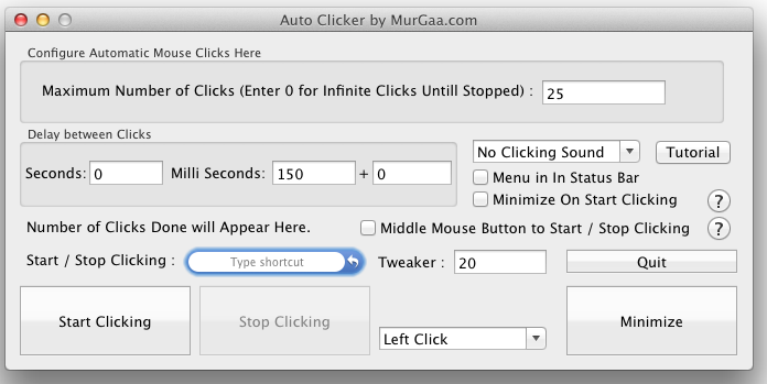 Auto Clicker for Apple Macintosh