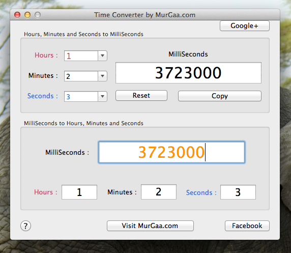 Time Converter for Mac OS X