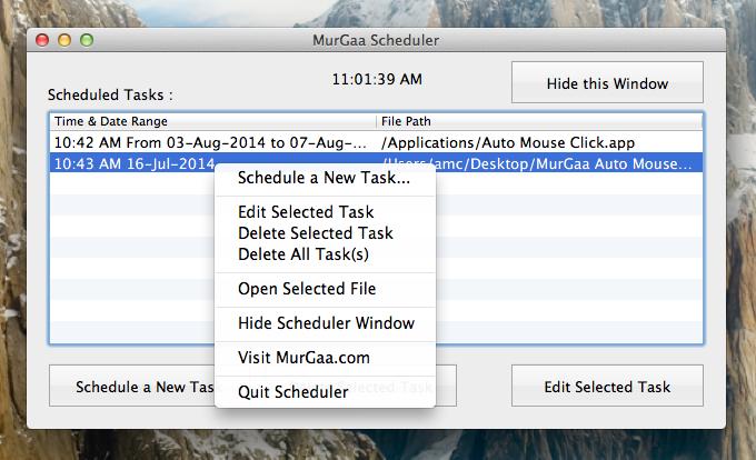 Run Application Later in Future on Mac