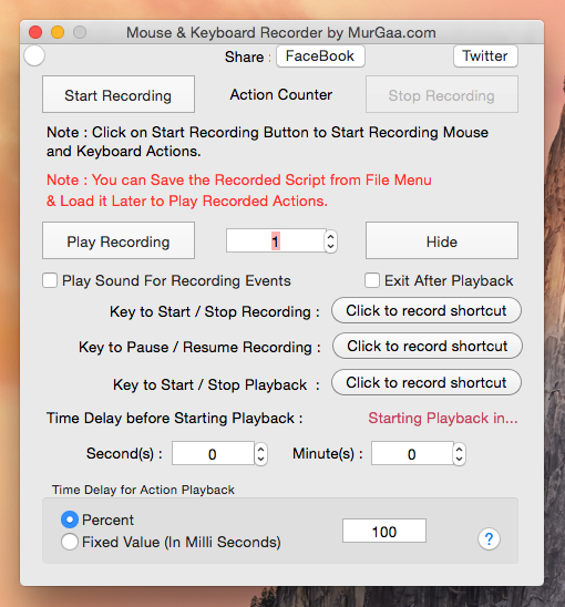 Mouse Recorder for Mac OS X