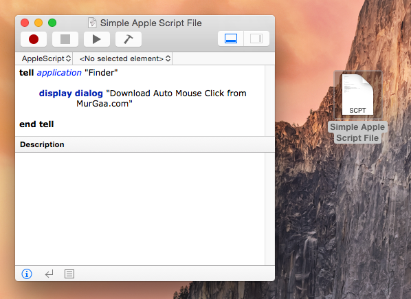 Create Apple Script File and Save it in your Mac